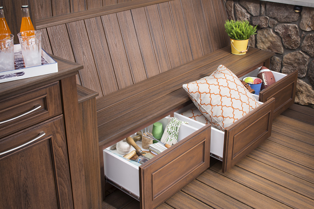 Trex Outdoor Storage brings stylish solutions to your outdoor space